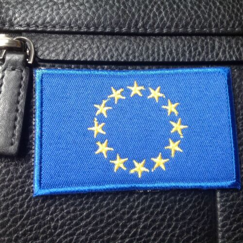 New European Union Flag BADGE EU National Flag EMBROIDERED HOOK PATCH