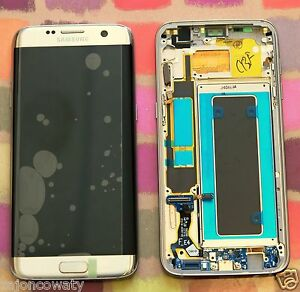 Details About Genuine Gold Samsung Sm G935f Galaxy S7 Edge Screen Amoled 2k Lcd Frame Display