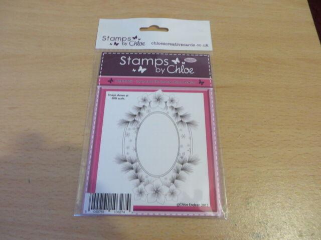 STAMPS BY CHLOE PINE AND CHRISTMAS ROSE FRAME STAMP , NEW