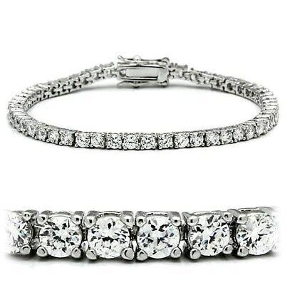 Tennis Bracelet D//VVS1 3.00Ct Diamond Prong Set 14k White gold over