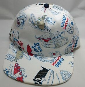 591d7585 VANS SURFING snapback hat cap adjustable white surf donkey bowlers ...