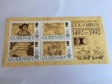 GUERNSEY MNH MINISHEET 1992 SG 560 COLUMBUS DISCOVERY OF AMERICA