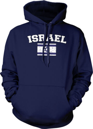 Israel Country Flag Israeli Shalom Pride Football Soccer Hoodie Pullover