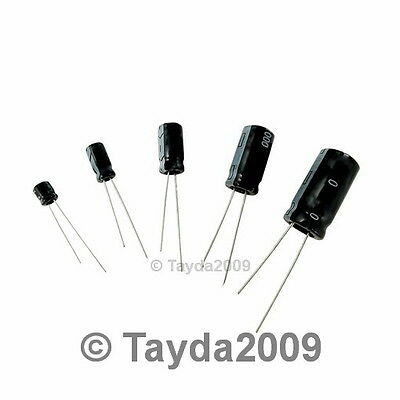 10 x 100uF 10V 105C Radial Electrolytic Capacitor 5x11