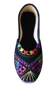 Women-Shoes-Designer-Leather-Jutties-Indian-Ballerinas-Black-UK-3-5-9-5-EU-36-44