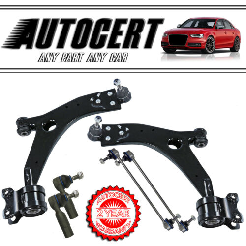 FORD FOCUS MK2 04-12 FRONT CONTROL ARMS WISHBONES 21mm TRACK ROD,LINK BARS L /& R