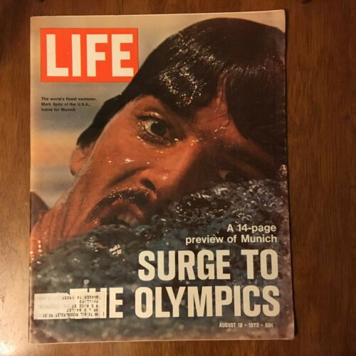LIFE Magazine ~ August 18 1972~Mark Spitz~14 Pg Preview Munich Olympics~ Ads 9