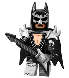 LEGO NEW BATMAN MOVIE SERIES Glam Metal Batman MINIFIGURE 71017 FIGURE
