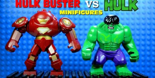 2 x Mini Figures Fits LEGO 2018 Marvel Big Green Hulk vs Ironman Hulk Buster