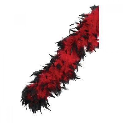 Intelligente Nero & Rosso Feather Boa-burlesque-vegas Showgirl-costume-mostra Il Titolo Originale
