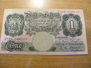 A One Pound Banknote LK O'Brien S73S 2793344, UNC  very crisp S--S Number Note