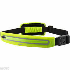 Nike magro 2 Bolsillo Waistpack Riñonera Deportes Running-Hi Vis Amarillo Reflectante