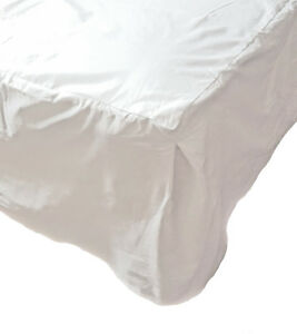 Tesco-Single-Bed-Sheet-White-Polycotton-Easy-Care-Valance-Sheet-for-3ft-Bed