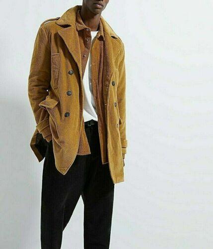 Zara Marrom Masculino Trench Coat Veludo Limitado Novo com etiqueta Tamanho M Na Caixa Novo em folha na caixa  nSXOm
