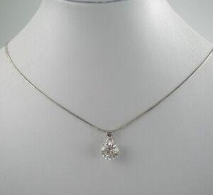 Huebsche-925er-Silber-Halskette-amp-Anhaenger-Sterlingsilber-Zirkonia-Vintage-4-52g