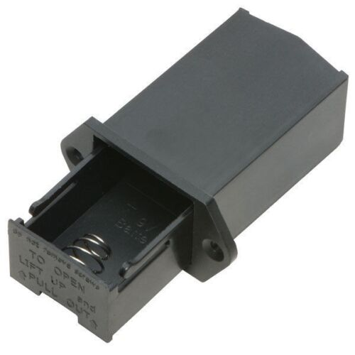 PP3 Battery Holder Chassis Mounting Enclosed PP3 Box Panel Mounting Free P/&P