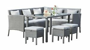 Argos rattan garden furniture sofa