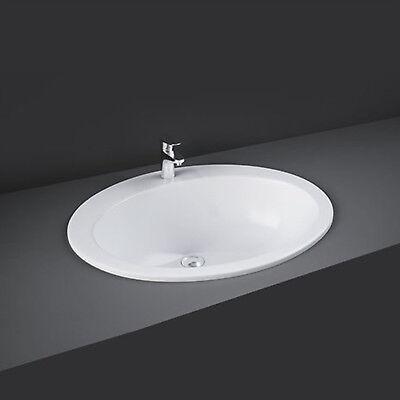 Lavabo bagno soprapiano da incasso 63,5 x 53,5 x 22,5 h cm ceramica bianca