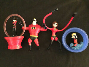 Details about MR  INCREDIBLE, ELAST-GIRL, VIOLET, DASH McDonald's Happy  Meal Incredibles Toys