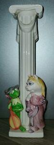 VTG-Candle-Holder-Medieval-Kermit-and-Piggy-Muppets-Sigma-Tastesetter-Japan