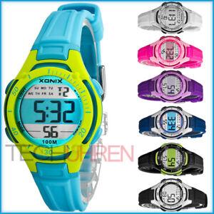 Digitale-XONIX-Armbanduhr-fuer-Damen-und-Kinder-WR100m-super-leicht-nickelfrei