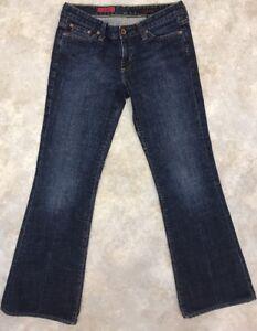 AG-Adriano-Goldschmied-Women-039-s-Blue-Medium-Wash-Club-Boot-Cut-Jeans-Sz-27-R