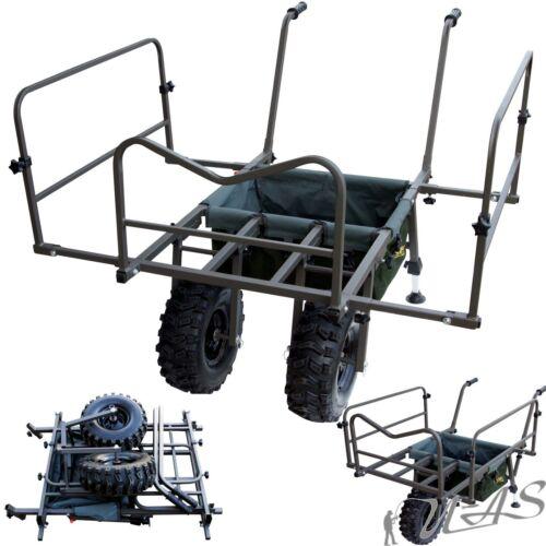Delta Fishing Trolley Goliath Double Wheel Carp Barrow XL Angelkarre Tasche Kva