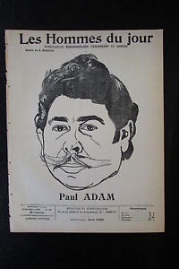 Paul-Adam-Writer-Critical-Caricature-Drawing-the-Men-the-Jour-No-No-90-of-1909