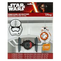 Star Wars The Force Awakens Honeycomb Hanging Decorations (pack Of 3) - 291506