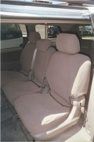 2009-2010 Toyota Sienna LE 8 Passenger Van 3 Row Seat Covers Set in Dark Tan