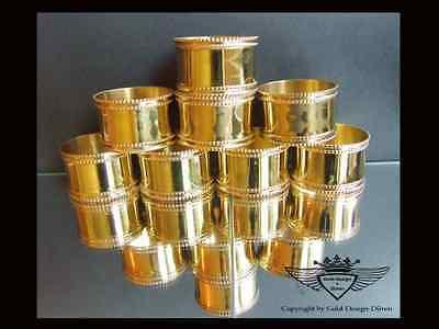 4 Stück wunderschöne Serviettenringe in 24 Karat vergoldet edel neu glänzend