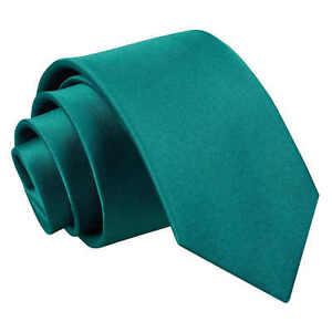 Teal-Boys-Regular-Tie-Satin-Plain-Solid-Classic-Wedding-Kids-Necktie-by-DQT