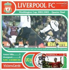 Liverpool 2002-03 Aston Villa (Danny Murphy) Football Stamp Victory Card #216
