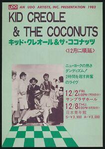 1983-Kid-Creole-amp-The-Coconuts-Sheena-Easton-Japan-Concert-Tour-Music-Flyer