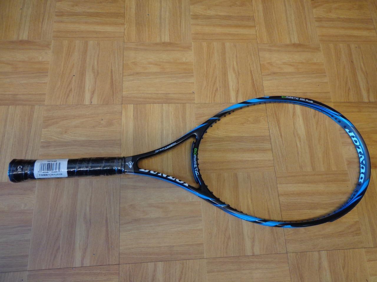 NEW Dunlop Biomimetic 200 PLUS 100 head size 18x20 4 1 4 grip Tennis Racquet