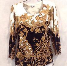Joseph A. Cardigan Sweater Sz XL Womans Floral Design Button Front
