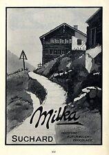 Milka Suchard Hochfeine Alpenmilch Chocolade Historische Annonce 1914