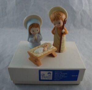 1981-Hallmark-Mary-Joseph-baby-Jesus-Figurines-Mary-Hamilton-Nativity