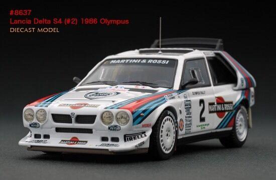 LAST ONE  HPI  8637 Lancia Delta S4  2 Martini 1986 Olympus Rally 1 43 model