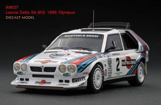 lancia delta s4 martini #2 1986 olympus rally hpi #8637 1/43 for
