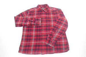 Eddie-Bauer-Flannel-Red-Buffalo-Plaid-Shirt-Mens-Size-Medium
