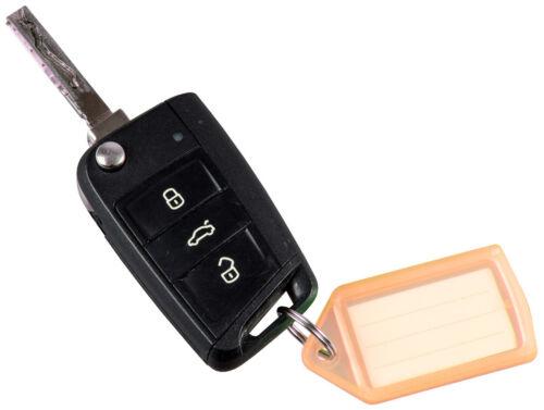 100x Schlüsselanhänger mit Schlüsselring selbst beschriften Schlüsselschilder