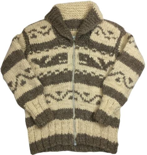 1960s Vintage Cowichan Hand Weaved Sweater Men's S