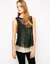 Diesel Ruchi Sequin Embellished Sleeveless Top Size S $328