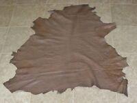 (piz8101) Hide Of Light Brown Misprinted Lambskin Leather Hide Skin