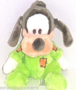 Disney-Goofy-Plush-Toy-Rattle-Green-Baby-Soft-Theme-Parks-New