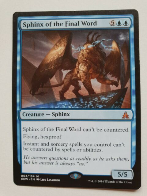 MTG Sphinx of the Final Word - Oath of the Gatewatch - Mythic Rare - NM