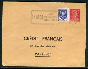 Bien Entier Postal Tsc Type Muller Du Crédit Français En 1958 (ouverte En 2 Au Verso) Couleurs Fantaisie