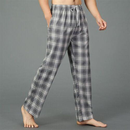 Summer 100/% cotton sleep bottoms mens pajama simple sleepwear pants pijamas for