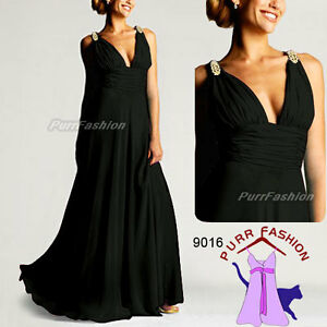 Double v black dress formal